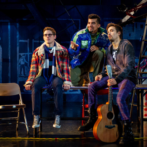 (L to R) Cody Jenkins, Juan Luis Espinal, Coleman Cummings RENT 20th Anniversary Tour, Credit Amy Boyle 2019.