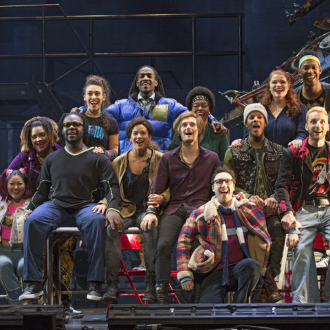 The Company of the RENT 20th Anniversary Tour - RENT 20th Anniversary Tour, Credit Carol Rosegg, 2017.